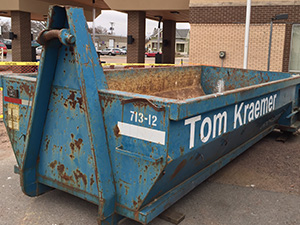 Roll-off residential dumpster